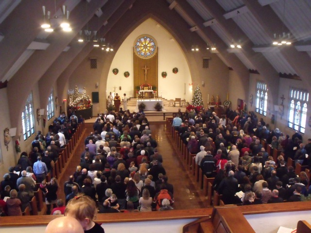 St. Leo church was  filled to capacity as we celebrated the birth of Christ with a very beautiful mass.