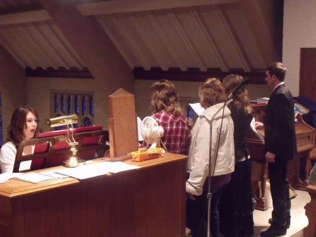 Jessi and French were able to sneak up to sing the traditional O Holy Night at mass and it made me teary!
