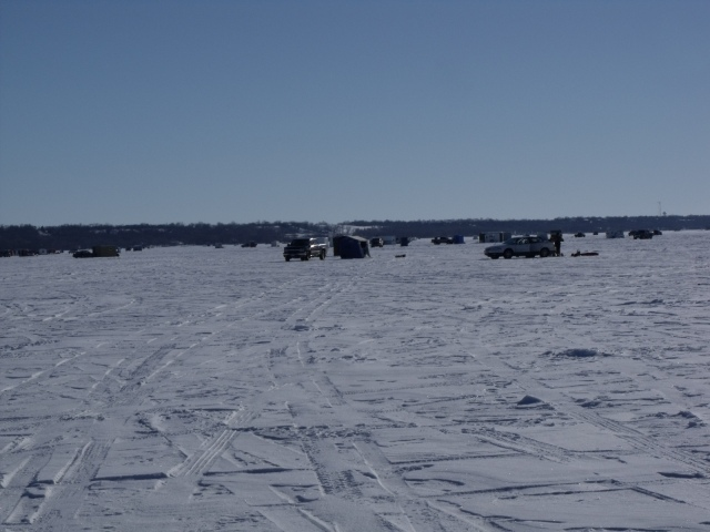 A view of our fishing neighbors.  More fisherman came out on the lake in the late afternoon, most likely after work.