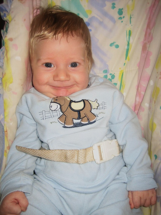 How sweet is this?  Blase Weston Ryland at 2 months of age. Angel...................