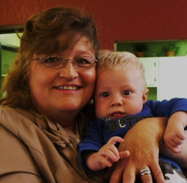 Me and Blase Weston Ryland son of Frenchy and Peter. I am a grandmother.......wow:)