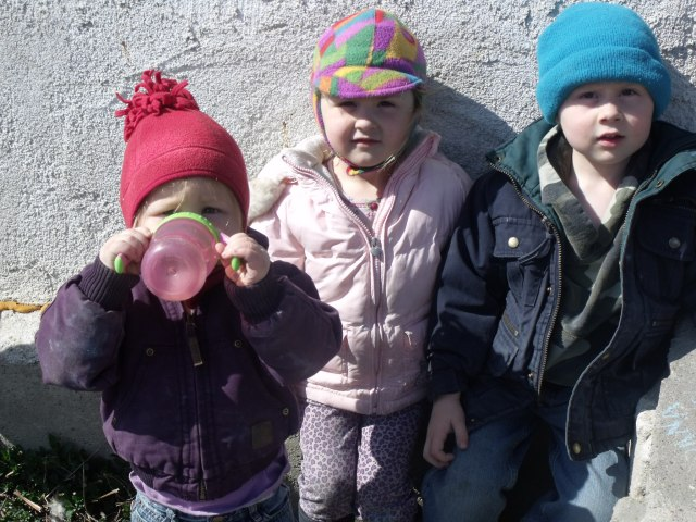 Anya, Maura and Cael Dougherty, kids of Jess and Luke.