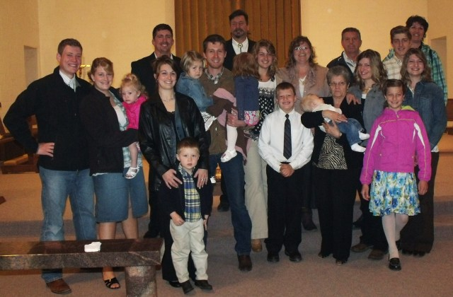 Our entire family plus, Nonna, Uncle Gino and my sister Anet.  The more the merrier:)