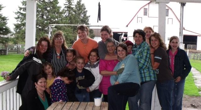 Aunts, cousins, sisters chilling out on the front porch........brrrrrrrrrrrrr.