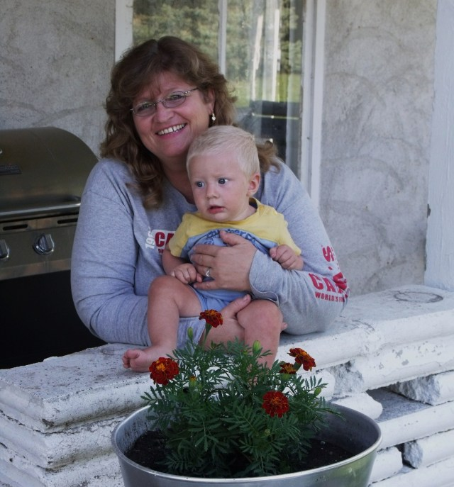 Me and our youngest grandchild, Blase, on my 52nd birthday!  I sure don't feel that old:)
