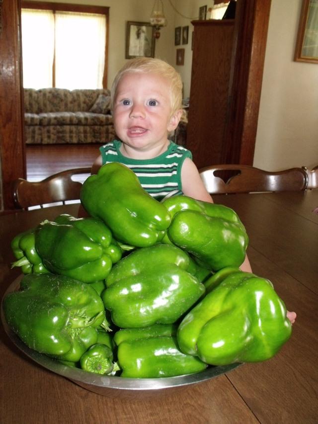 Sweet peppers, sweet baby Blase.