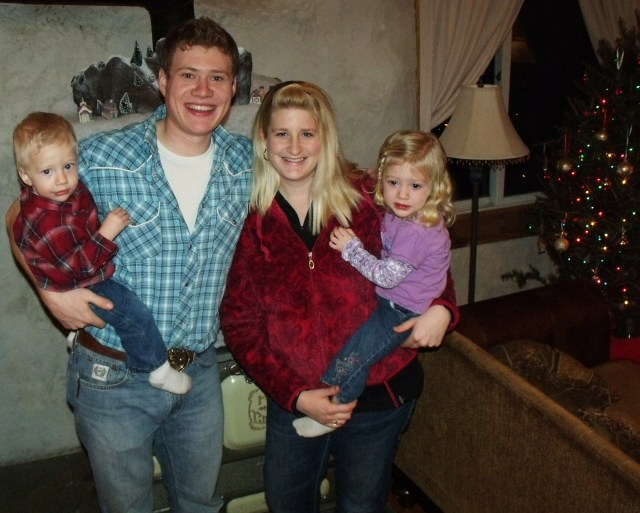 Our daughter Francesca, husband Peter with children Blase and Kallie Jo Ryland!