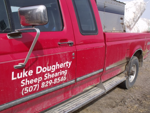 Lukes truck......ready to unload some wool.