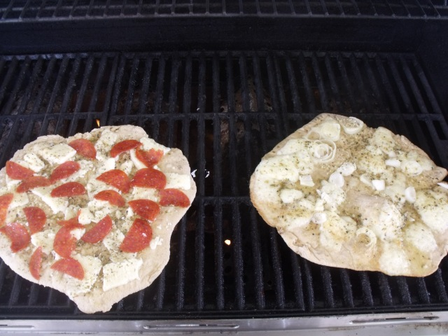 Pizza on the grill...fast food at it's best.