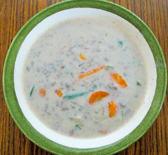 Creamy Venison soup.