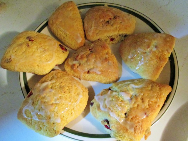 Cranberry Scones make for a nice 3:00 snack for my hungry crew!