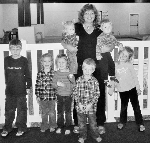 Me and all of my grand children. Missing Jessi and her family very much!!!