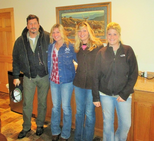 A happy reunion! Fred, Silvana, Marisa and Frenchy out in Wyoming.