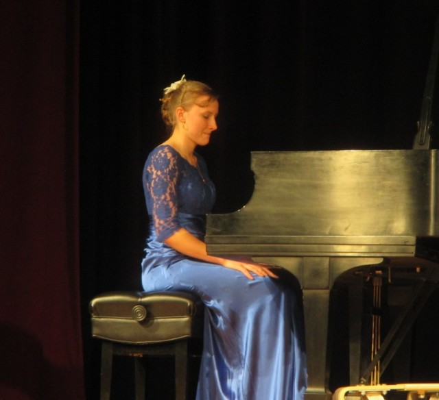 Angelica, deep in concentration at her Senior recital.