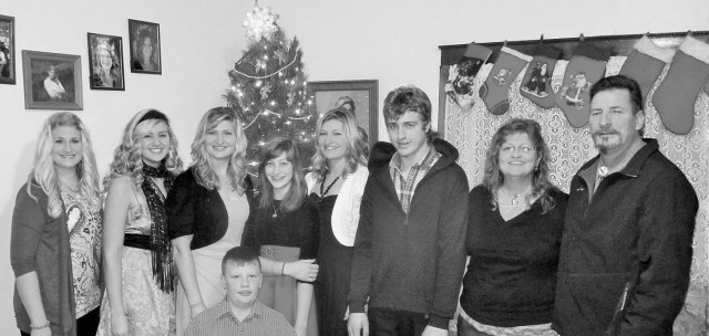 Frenchy, Maggie, Marisa, Mario (below) Bella, Silvana, Caleb, Sandra and Fred. Christmas Eve 2015