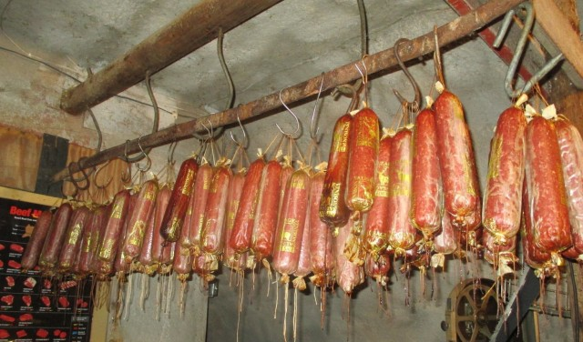 Okay so you don't like Polish sausage? Can I tempt you with our own Summer Sausage? How does 150 pounds sound?